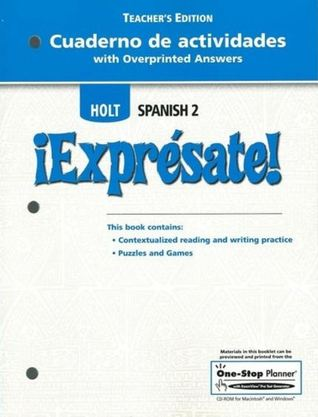 Worksheets Holt Spanish 2 Workbook Answer Key cuaderno de actividades with overprinted answers teachers edition 1892655