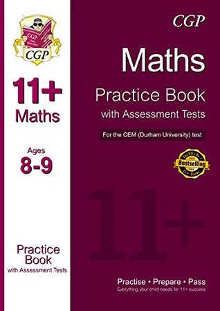 11+ Maths Practice Book with Assessment Tests (Ages 8-9) for the CEM Test