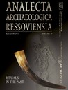 Analecta Archaeologica Ressoviensia. Rituals in the past. Volume 10