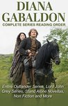 DIANA GABALDON - COMPLETE SERIES READING ORDER AND CHECKLIST: Entire Outlander universe in reading order, Outlander series only, Lord John Grey series, short stories, novellas