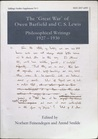 "The ""Great War"" of Owen Barfield and C.S. Lewis:  Philosophical writings 1927-1930 (Inklings Studies Supplement No. 1)."