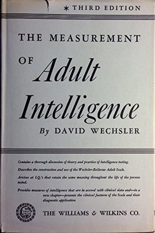 The measurement of adult intelligence,