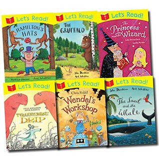 Julia Donaldson and Axel Scheffler the Gruffalo Let's Read! 6 Books Collection Set (The Gruffalo, The Snail and the Whale, Stick Man, The Princess and the Wizard, Tyrannosaurus Drip, Hamilton's Hats, Wendel's Workshop)