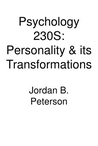 Personality And Its Transformations