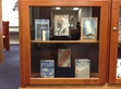 This is just a sample of Faulkner's works displayed in the Faulkner Room of the Library on the University of Mississipi Campus.