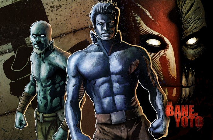 An image from the second episode of the 3D comic app for iOS, featuring music by Celldweller.  Art by Steve Scott and Aaron Lovett.