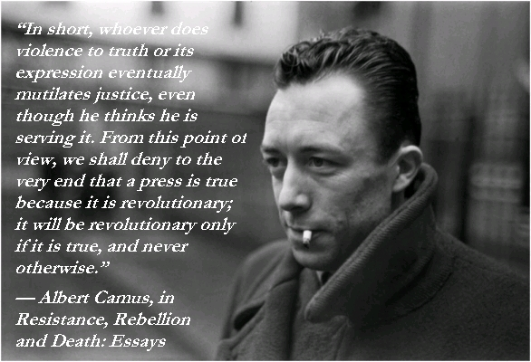 albert camus views on racism Albert camus: soccer goalie existential philosophy of kierkegaard, sartre, camus explained with 8-bit video games nietzsche, wittgenstein & sartre explained with monty python-style animations by the school of life.