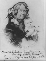 """Quote by Elizabeth Cady Stanton: """"The moment we begin to ..."""