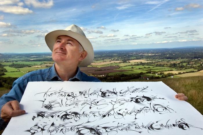 Ewan Clayton Calligraphy Of In Parenthesis