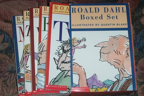 Road Dahl Boxed Set of 6 Books: The Witches / George's Marvelous Medicine / The Twits / Esio Trot / Matilda / The BFG