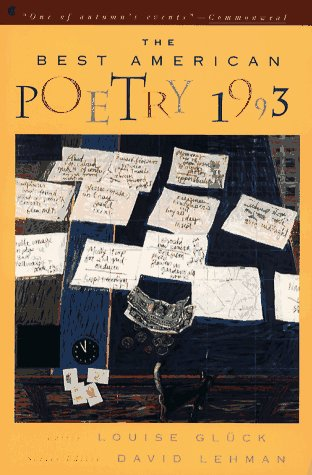 Best American Poetry 1993