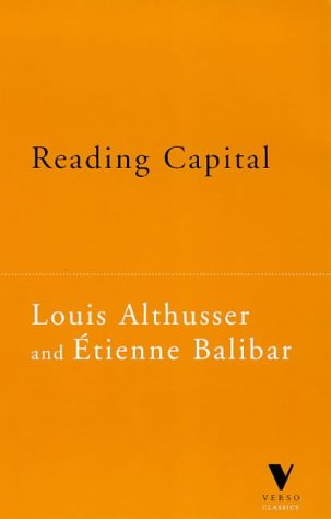 Reading Capital by Louis Althusser
