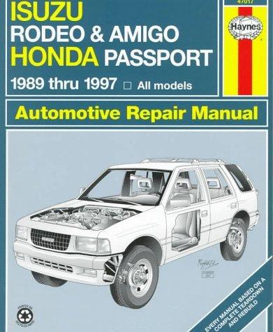Isuzu Rodeo & Amigo, Honda Passport Automotive Repair Manual