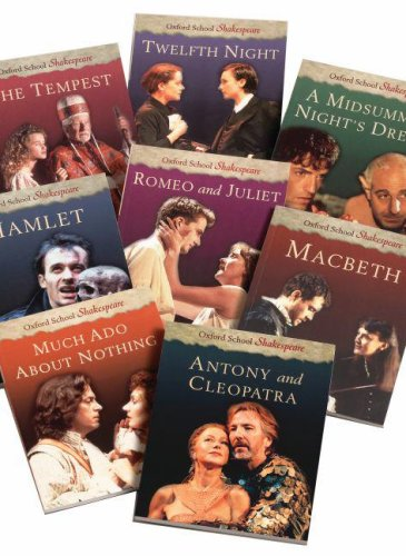 The Oxford School Shakespeare Set: 8-Volume Set: Macbeth, Hamlet, Much Ado About Nothing, Romeo and Juliet, Midsummer Night's Dream, Twelth Night, Antony & Cleopatra, and The Merchant of Venice