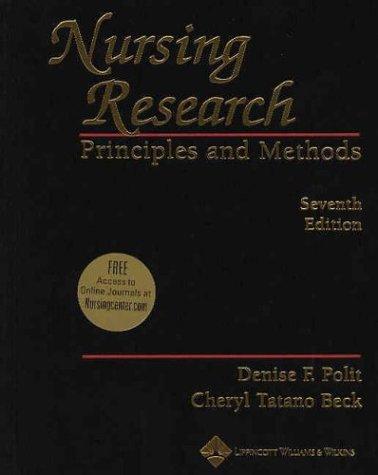 Nursing Research: Principles and Methods
