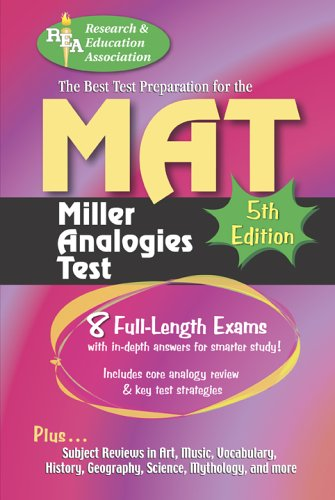 MAT -- The Best Test Preparation for the Miller Analogies Test by Tracy Budd