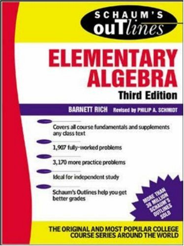 schaum s outline of elementary algebra by barnett rich 205519