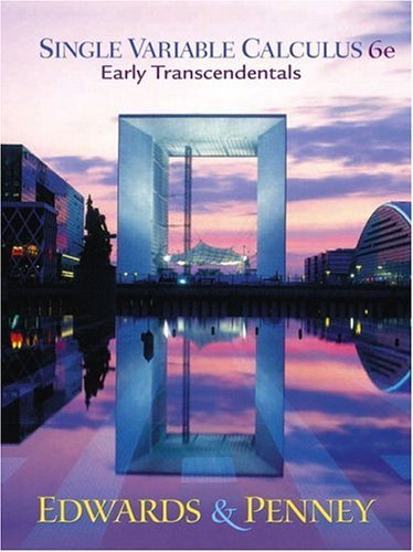 Single Variable Calculus Early Transcendentals Version [With CDROM]