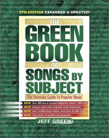the green book of songs by subject the thematic guide to popular rh goodreads com Best Fiction Books Amazon Best Books of 2013 Book