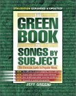 The Green Book of Songs by Subject: The Thematic Guide to Popular Music