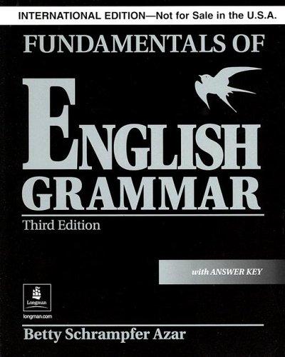 Fundamentals of English Grammar: With Answer Key
