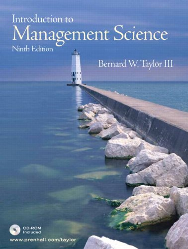 Introduction to management science by bernard w taylor iii fandeluxe Image collections