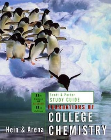 Student Study Guide to Accompany Foundations of College Chemistry, 11th Edition