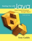 Starting Out with Java: From Control Structures Through Objects [With CDROM]
