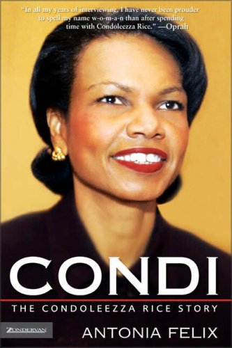 condoleezza rice plans new book is it a condi the condoleezza rice story by antonia felix