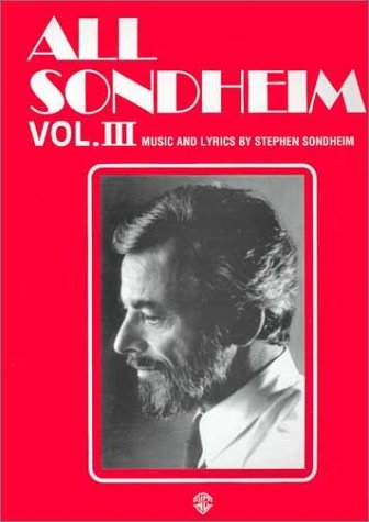 All Sondheim, Vol 3: Piano/Vocal