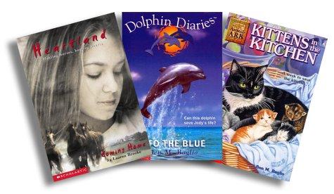 Animal Series: Heartland, 1: Coming Home, Dolphin Diaries, 1: Into the Blue, Animal Ark, 1: Kittens in the Kitchen