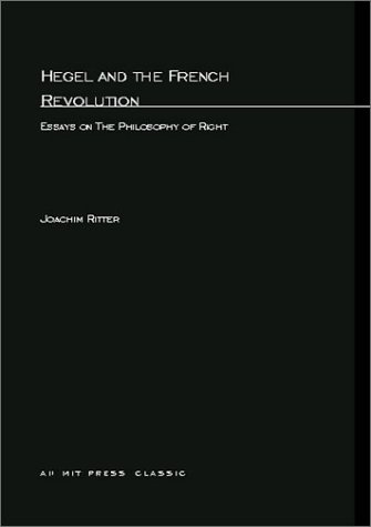 hegel and the french revolution essays on the philosophy of right  492410
