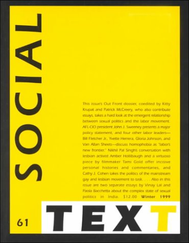 Social Text (Special Issue of Social Text, Nos. 1-2)