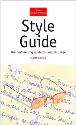 The Economist Style Guide by The Economist