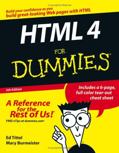 Ebook HTML 4 for Dummies by Ed Tittel DOC!