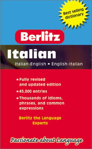 Berlitz Pocket Dictionary/Dizionario Tascabile: Italian-English English-Italian/Italiano-Inglese Inglese-Italiano (Berlitz Pocket Dictionaries)