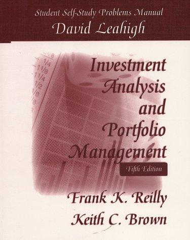 student self study problems manual investment analysis portfolio rh goodreads com BLS Student Manual BLS Student Manual