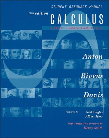 Calculus, Early Transcendentals Combined, Student Resource Manual