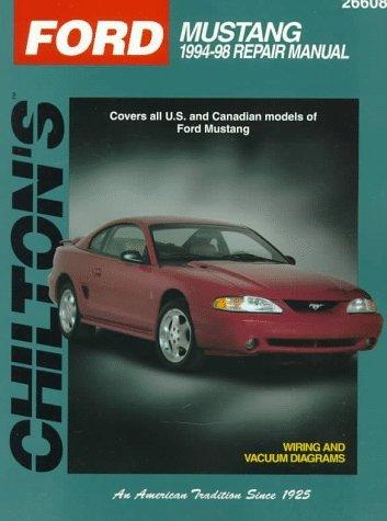 Ford: Mustang 1994-98 Repair Manual