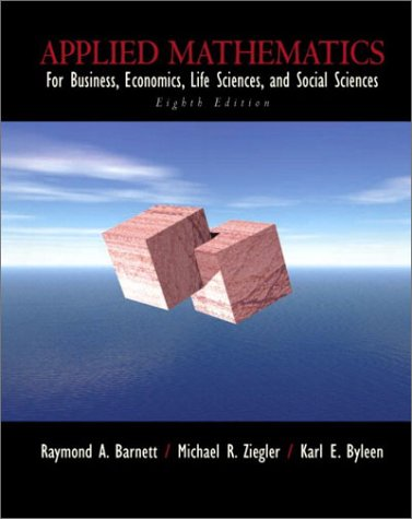 Applied Mathematics for Business, Economics, Life Sciences and Social Sciences