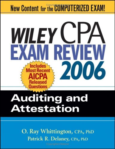 Wiley cpa exam review auditing and attestation by o ray whittington fandeluxe Choice Image
