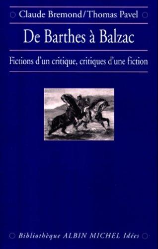 De Barthes à Balzac