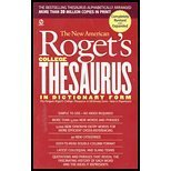 NEW AMERICAN ROGET'S COLLEGE THESAURUS IN DICTIONARY FORM by Philip D. Morehead