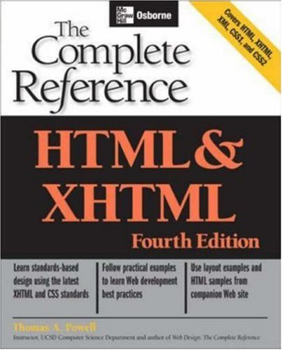 HTML & XHTML: The Complete Reference