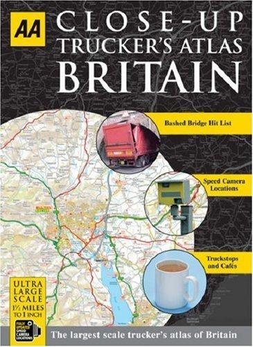 Aa Close Up Truckers Atlas Britain