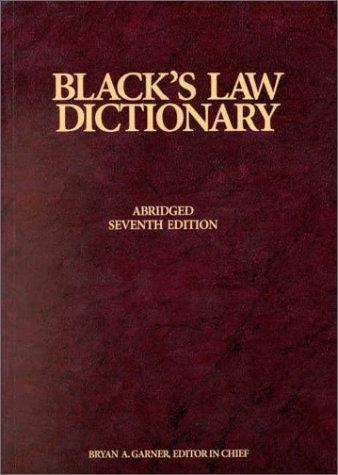 Blacks Law Dictionary,Abridged
