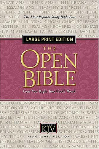 The Open Bible: Gets You Right Into God's Word KJV
