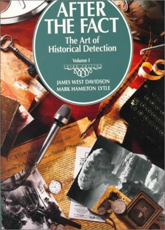 After the fact the art of historical detection volume 1 by james 1011544 fandeluxe Gallery