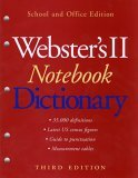 Webster's II Notebook Dictionary, Third Edition