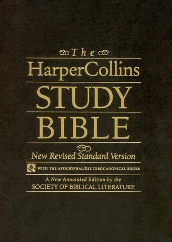 The HarperCollins Study Bible black leather: New Revised Standard Version (with the Apocryphal/Deute